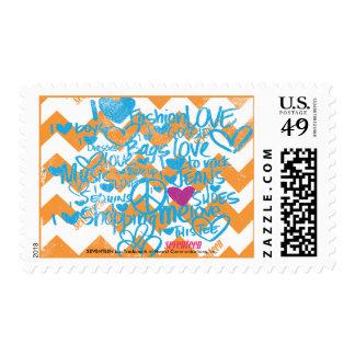 Graffiti Aqua-Purple Stamp