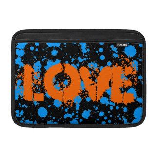 Graffiti Art Black and Blue 90s Splatter Paint MacBook Sleeve