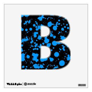 Graffiti Art Black and Blue 90s Splatter Paint Wall Graphics