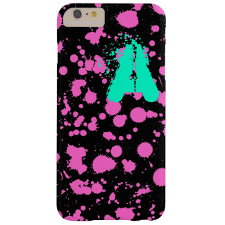 Graffiti Art Black and Fuschia 90s Splatter Paint Barely There iPhone 6 Plus Case
