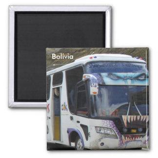 Graffiti Art Bus Refrigerator Magnet