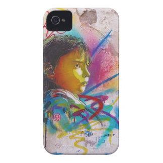 Graffiti Art of a Little Brunette Girl's Face iPhone 4 Case