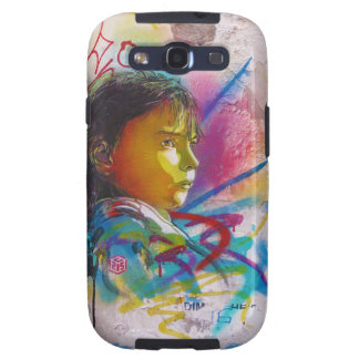 Graffiti Art of a Little Brunette Girl's Face Samsung Galaxy SIII Case