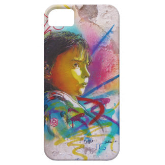 Graffiti Art of a Little Brunette Girl's Face iPhone 5 Cases