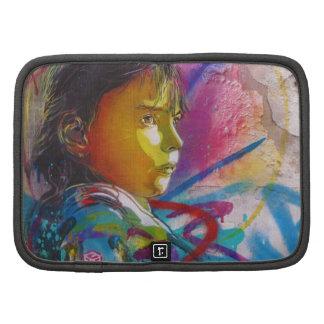 Graffiti Art of a Little Brunette Girl's Face Organizer