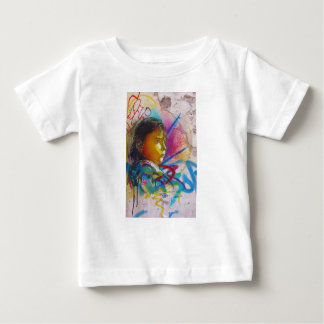 Graffiti Art of a Little Brunette Girl's Face Tee Shirts