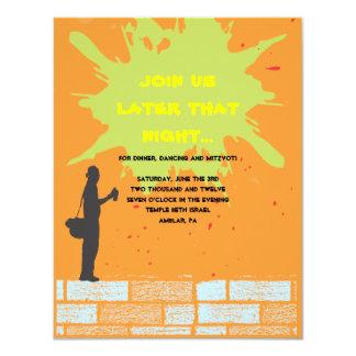 Graffiti Artist Bar Bat Mitzvah Invite Party Card