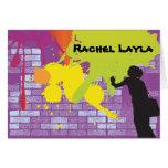 Graffiti Artist Girl Bat Mitzvah Thank You Card