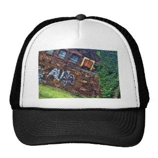 Graffiti Aura Grunge Derelict Stone Building Trucker Hat