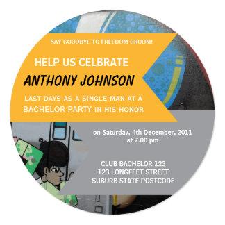 Graffiti Bachelor Party Invitation