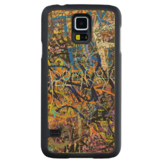 Graffiti Background Carved Maple Galaxy S5 Case