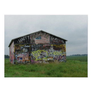 Graffiti Barn Poster