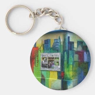 Graffiti, Basel, Switzerland Basic Round Button Keychain
