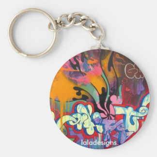 Graffiti Basic Round Button Keychain