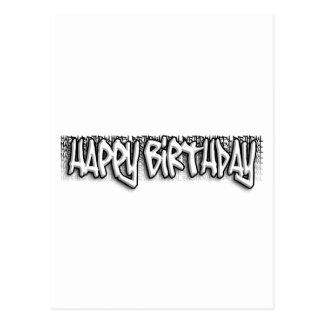 Graffiti Birthday Postcard