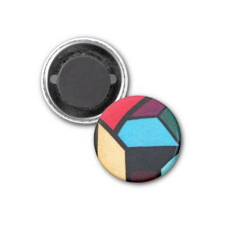 Graffiti Blocks 1 Inch Round Magnet