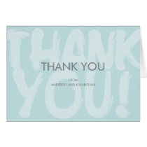 Graffiti Blue Baby Shower Thank You Card