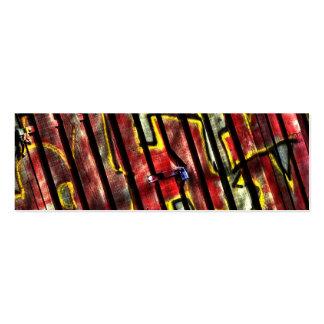 Graffiti Bookmark Mini Business Card