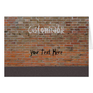 Graffiti Brick Wall Customizable Card