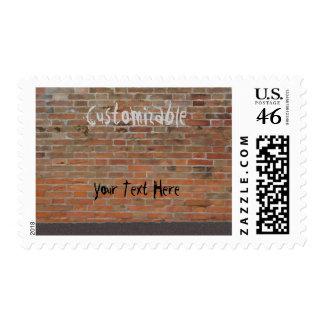 Graffiti Brick Wall Customizable Postage Stamps