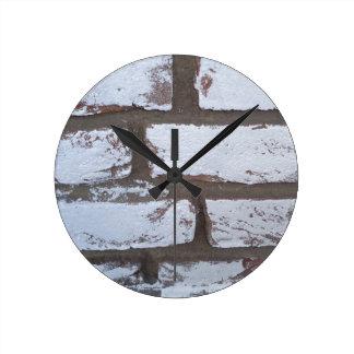 Graffiti Bricks Round Clock