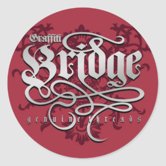 Graffiti Bridge Genuine Threads Classic Round Sticker