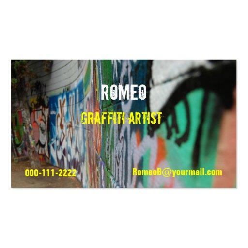 Street art business card templates bizcardstudio graffiti business card maxwellsz