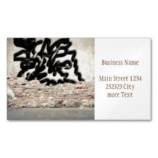 graffiti business card magnet