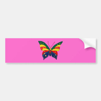 Graffiti Butterfly. Bright and Colorful Bumper Sticker