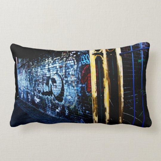 Graffiti By Night Lumbar Pillow