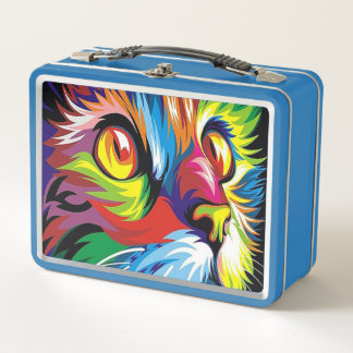 Graffiti cat retro fun lunch box