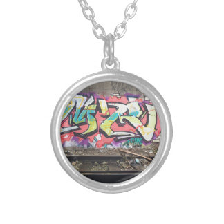 Graffiti Chicago Silver Plated Necklace