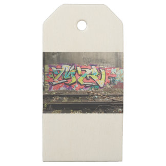Graffiti Chicago Wooden Gift Tags