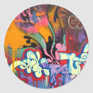 Graffiti Classic Round Sticker
