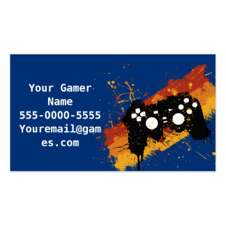 Graffiti Controller Video Game Business Cards