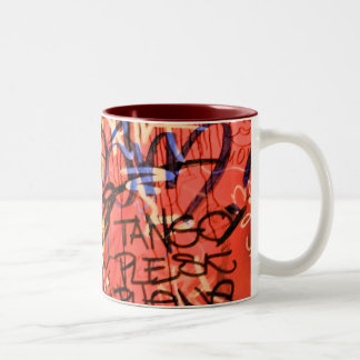 Graffiti Cup Two-Tone Coffee Mug