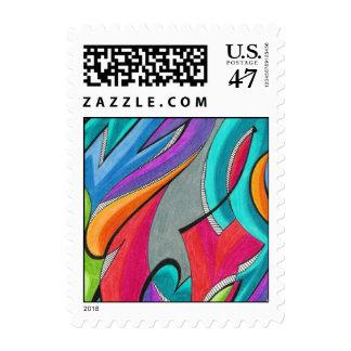 Graffiti   Customizable Postage Stamp