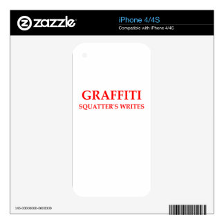 GRAFFITI DECALS FOR iPhone 4S