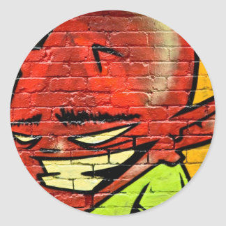 Graffiti Demon Classic Round Sticker