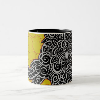 graffiti, design, mzobcn taza de café de dos colores