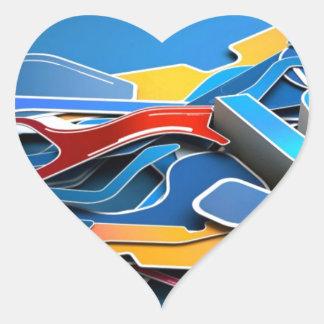 Graffiti Designed iPhone case with a stylish blue Heart Sticker