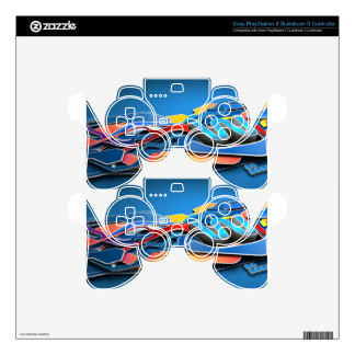 Graffiti Designed iPhone case with a stylish blue PS3 Controller Skin