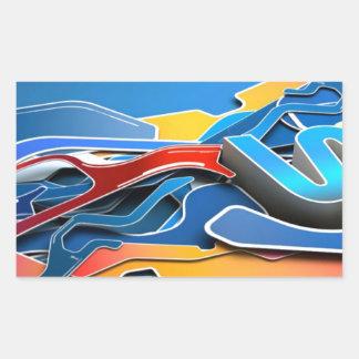 Graffiti Designed iPhone case with a stylish blue Rectangular Sticker