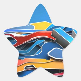 Graffiti Designed iPhone case with a stylish blue Star Sticker