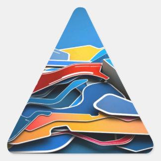 Graffiti Designed iPhone case with a stylish blue Triangle Sticker