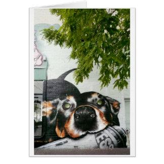 Graffiti Dog Card