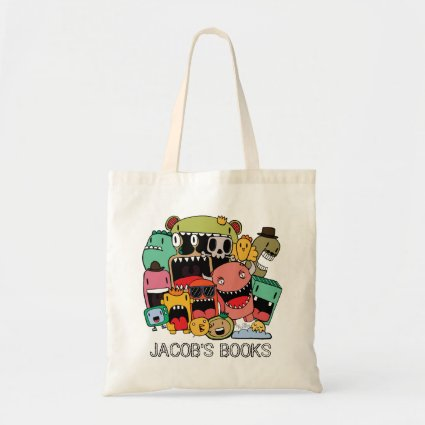 Graffiti Doodle Characters Library Book Bag