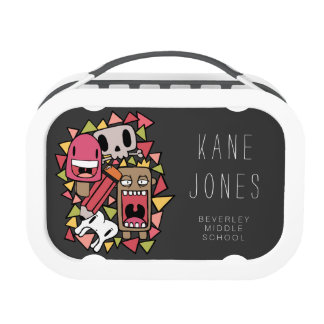 Graffiti Doodle Characters Personalized Lunchbox