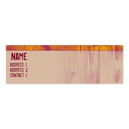 GRAFFITI DRIP 2 BUSINESS CARD TEMPLATE