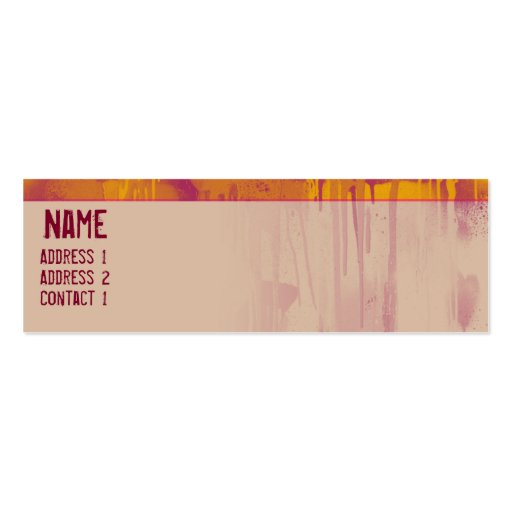 GRAFFITI DRIP 2 Double-Sided MINI BUSINESS CARDS (Pack OF 20)